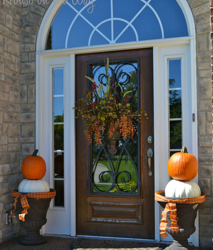 I love to use these great planters to hold pumpkins instead of flowers.