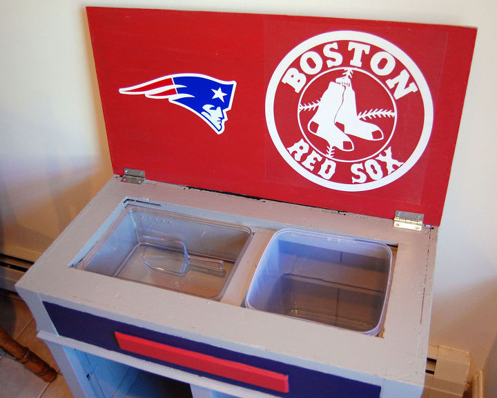 old cabinet into sports fan bar, kitchen cabinets, kitchen design, outdoor living, painted furniture