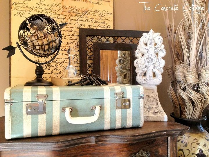 Thrift Store Suitcase Up Cycled With Paint And Wax