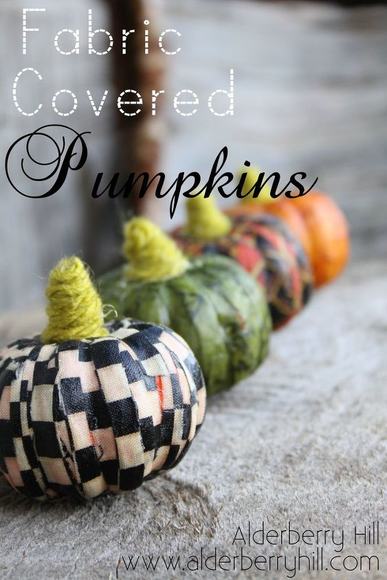 fabric covered pumpkins, crafts, decoupage