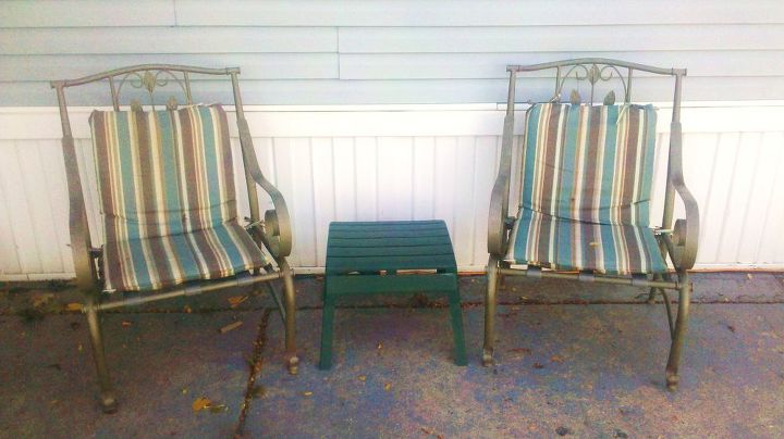 q paint the chairs hmmmmm opinions time, painted furniture, patio, Chais