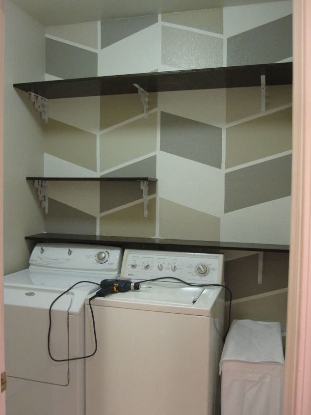 Installing DIY Shelves in Laundry Room