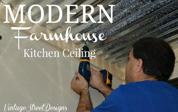 modern farmhouse kitchen ceiling, diy, kitchen design