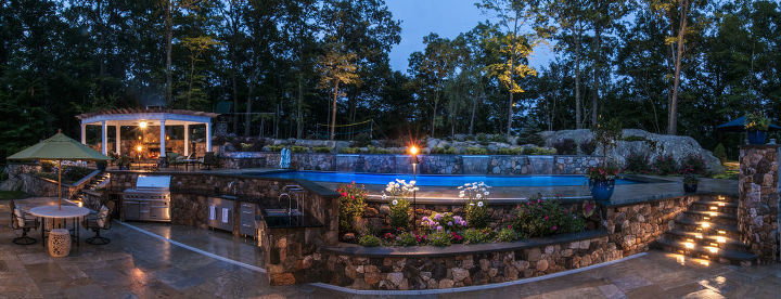 why leave home, decks, outdoor living, pool designs, spas, Panoramic View Says It All