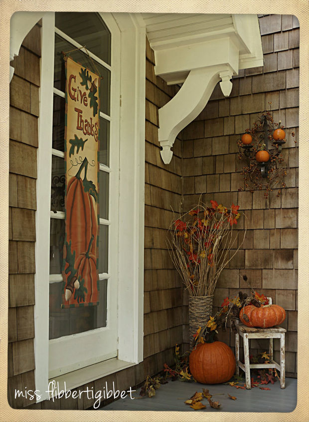 my back porch ready for fall, crafts, seasonal holiday decor, All finished