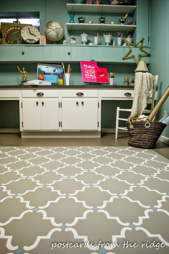 painting flooring faux rug stencil, flooring, painting