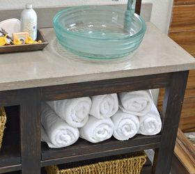 Woodworking Bathroom Vanity Open Shelf, Bathroom Ideas, Diy, Home  Improvement, Shelving Ideas