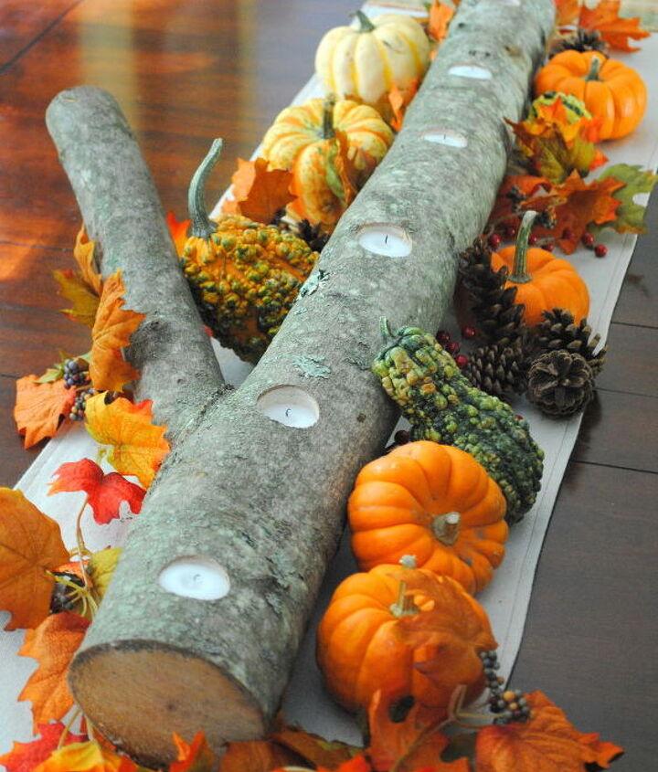 Autumn Log Centerpiece via sasinteriors.net