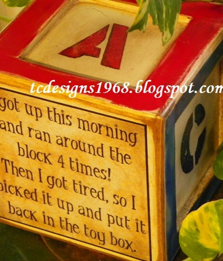 a cute toy block saying, crafts