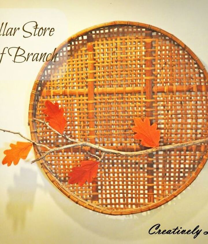 dollar store leaf branch, crafts, seasonal holiday decor