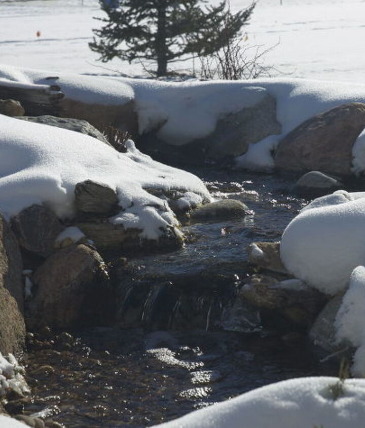 Winter is just around the corner!  What do you do with your water feature in the winter?