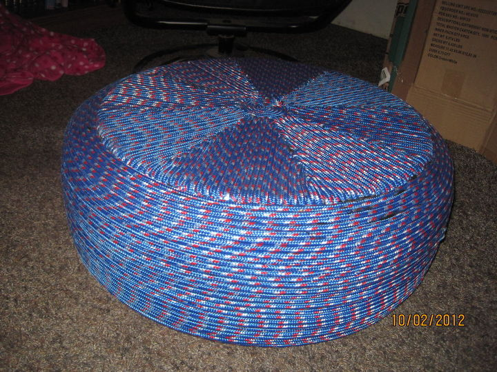 tire ottoman, painted furniture