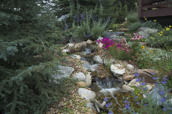 Looks like a mountain stream, but we designed and built it for one of our customers