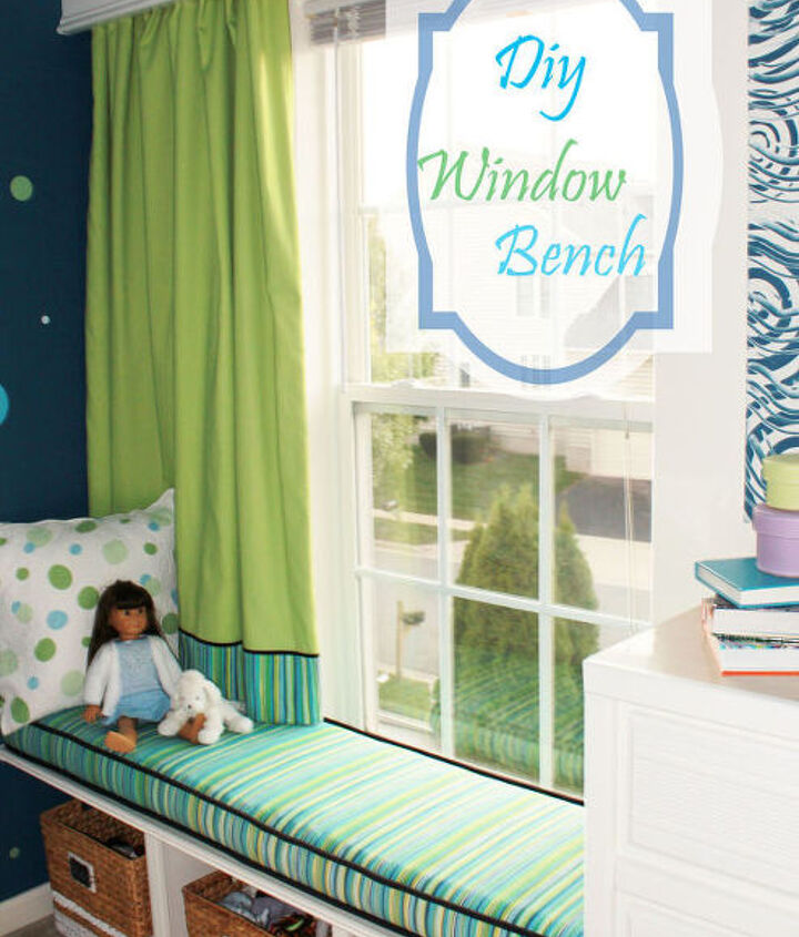 diy window bench, bedroom ideas, home decor, painted furniture