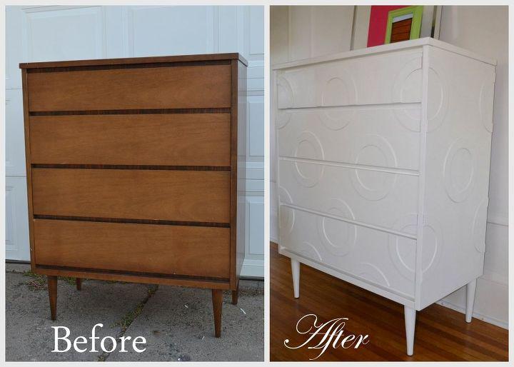 painted mid century furnitureMid Century Dresser Makeover  Hometalk