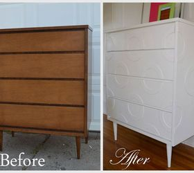 Mid Century Dresser Makeover, Painted Furniture