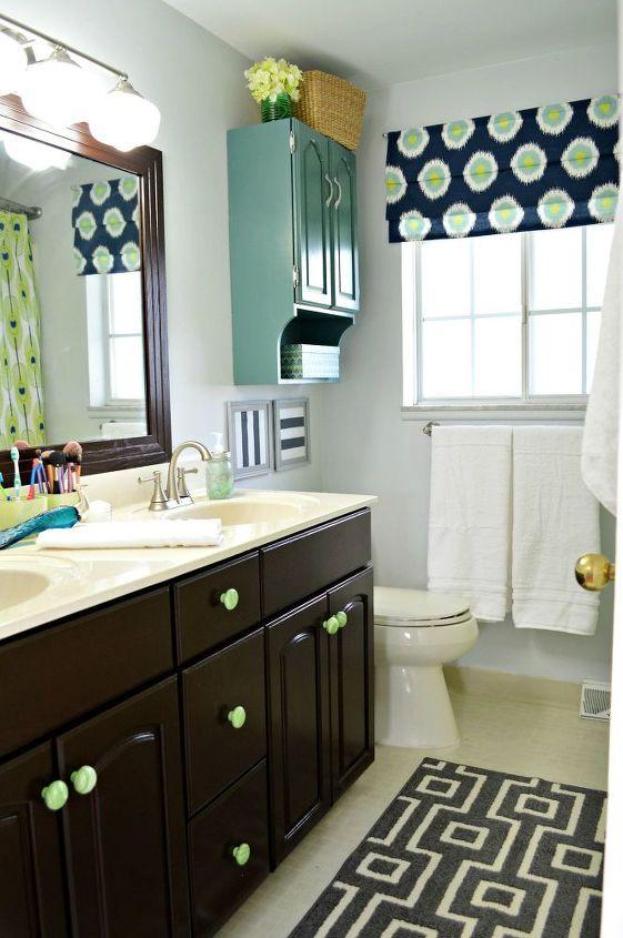 window treatment faux roman shade, bathroom ideas, home decor, window treatments, windows