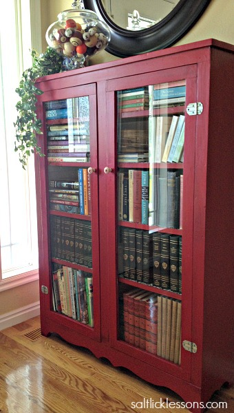 painted bookcase before after after, painted furniture, shelving ideas
