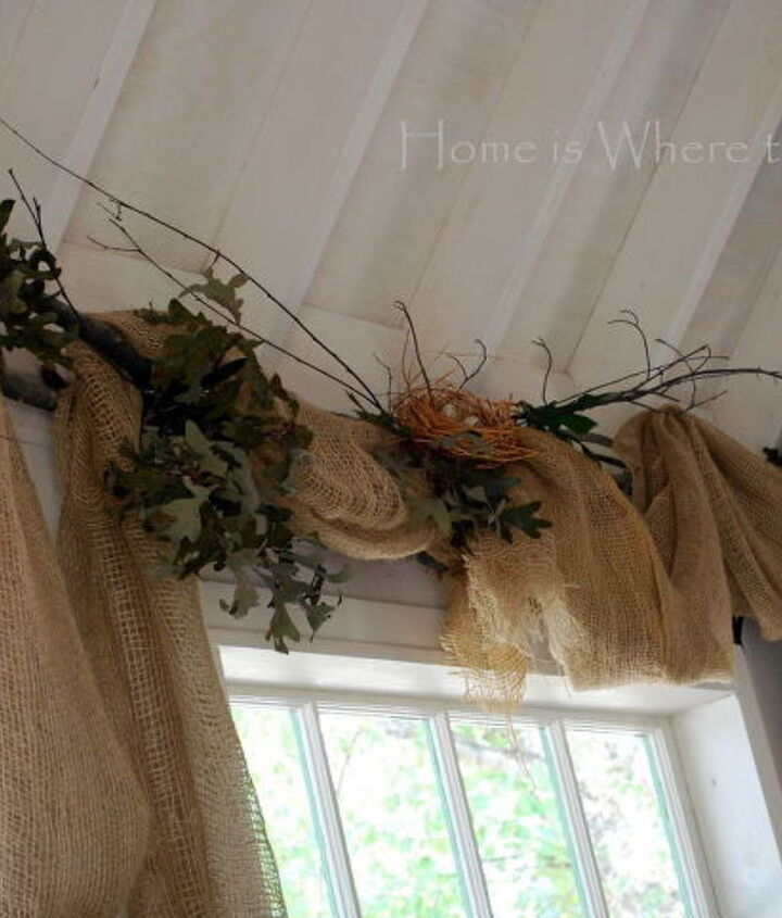 nesting amp window dressing, home decor, window treatments, windows