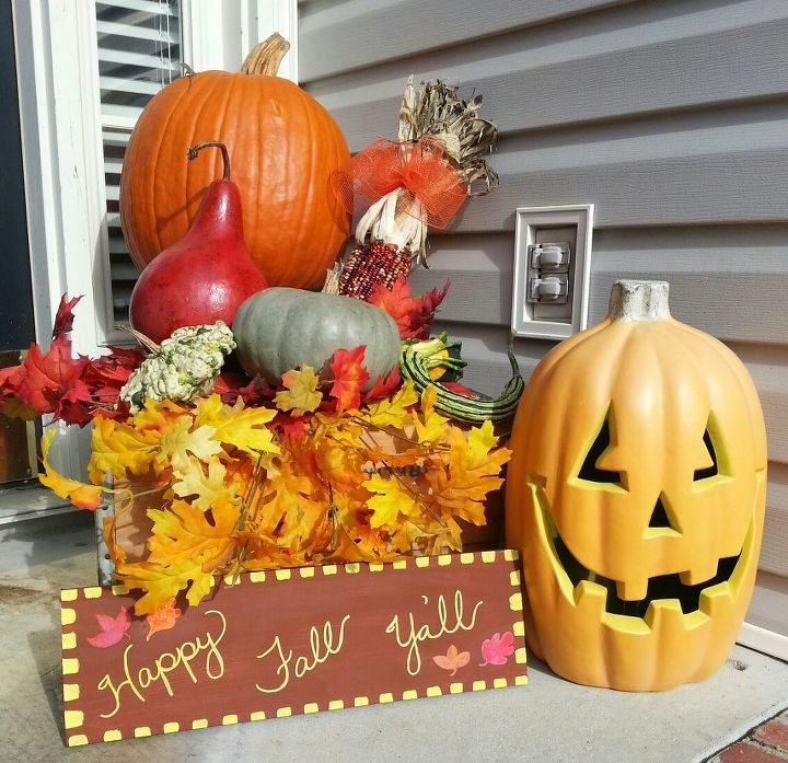 front porch decor, curb appeal, porches, seasonal holiday decor, Here s my project for today front porch decor
