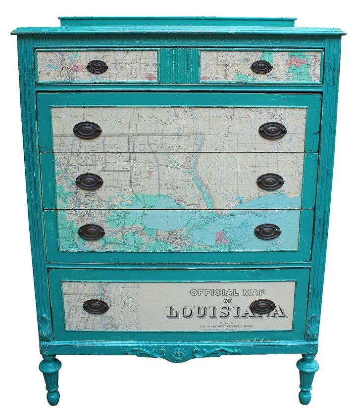 Best Chest of Drawers with 1965 Map as Accents | Hometalk MR57