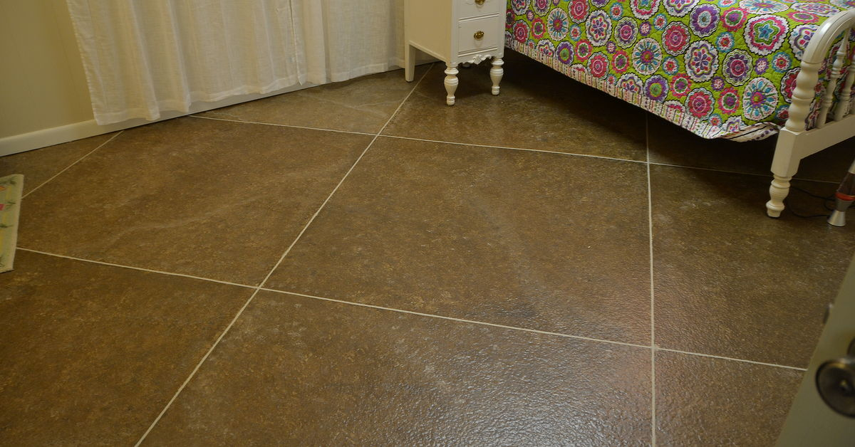 Faux Tilepainted Floor Hometalk - What is the best tile for basement floors