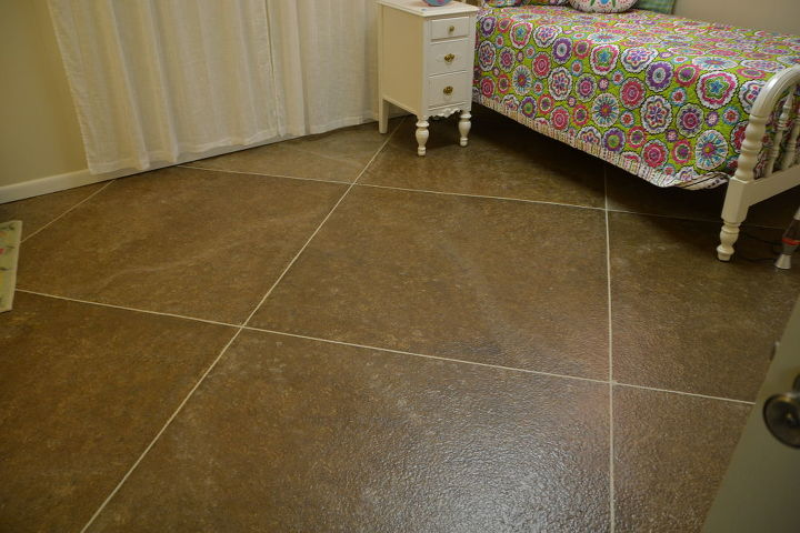 Faux Tile Painted Floor Flooring Painting I Used Pin Striping