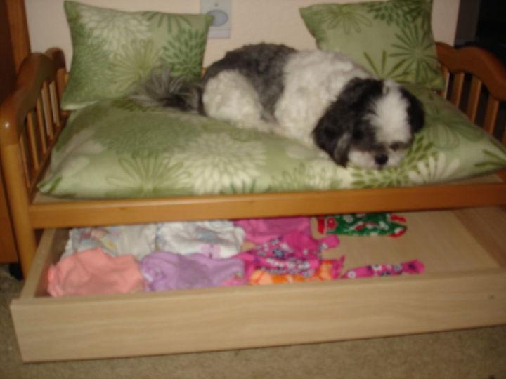 dog bed, repurposing upcycling