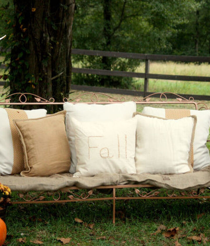 giving an old couch new life, gardening, outdoor furniture, painted furniture