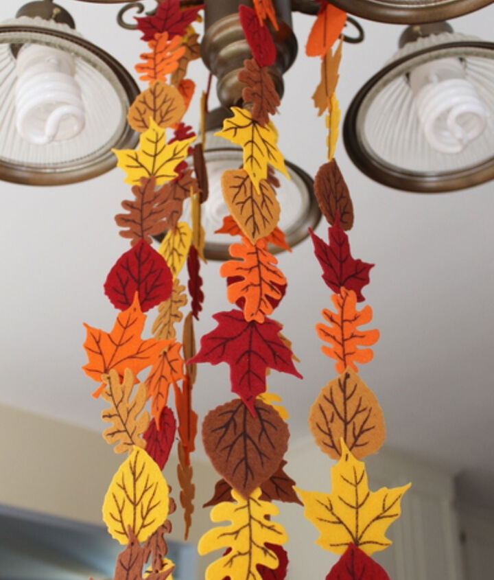 My garland hanging from the light in my kitchen.  http://www.craftsunleashed.com/index.php/seasonal/favors/fall-holiday-garland/