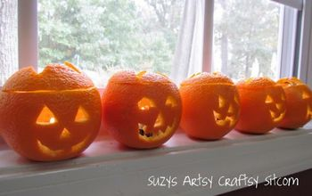 scented jack o lantern tea lights, halloween decorations, seasonal holiday d cor, Scented Jack O Lantern Tealights Suzys Artsy Craftsy Sitcom Halloween home suzy6281