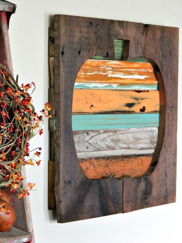 reclaimed wood pumpkin, repurposing upcycling, seasonal holiday decor, woodworking projects