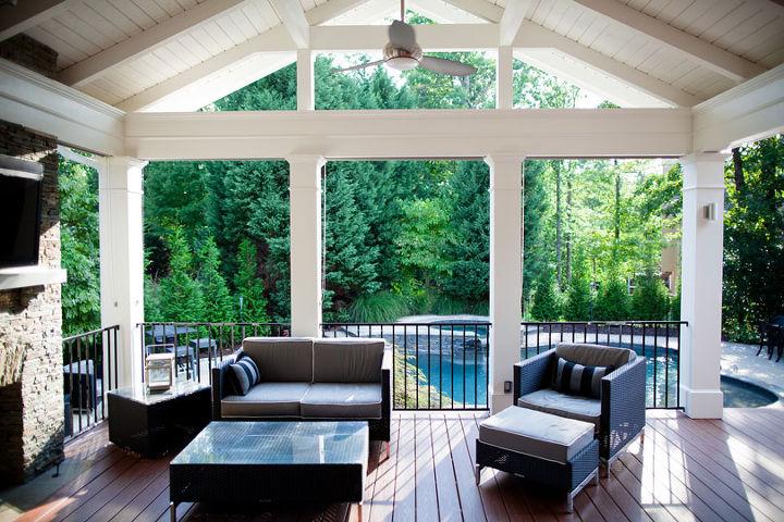 best covered deck award, decks, fireplaces mantels, home decor, outdoor living