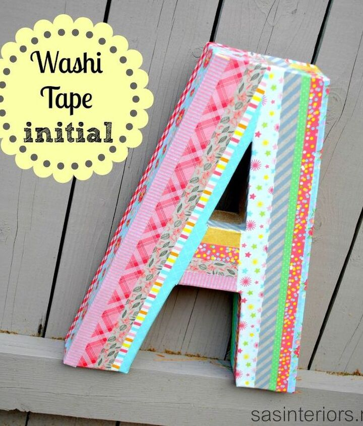 Washi Tape Initial