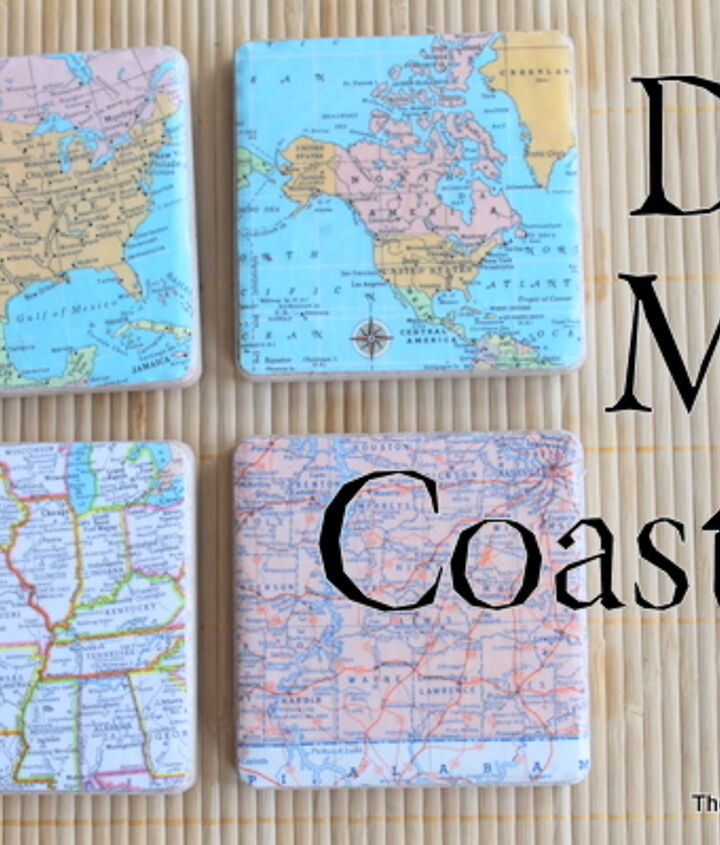 My finished coasters!  These also teach geography to your kids!  http://www.thecountrychiccottage.net/2012/07/diy-map-coasters.html