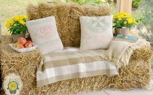 rustic furniture hay bale lounger, diy, outdoor furniture, repurposing upcycling, rustic furniture