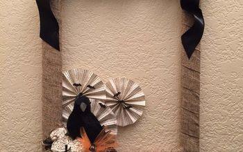 nevermore crow wreath for halloween, crafts, halloween decorations, seasonal holiday decor, wreaths