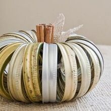 canning jar ring pumpkin, crafts