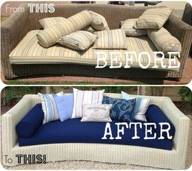 Merveilleux Outdoor Furniture Old Wicker Couch Refinish, Outdoor Furniture, Painted  Furniture, Repurposing Upcycling,