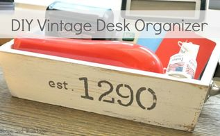 diy vintage desk organizer, crafts, painting, Vintage Inspired Desk Organizer