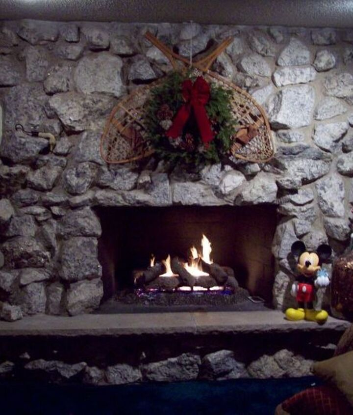 Real Stone Fireplace Keep It As Is Or Do A Makeover I Can T