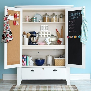 This suggestion comes from Better Homes & Gardens. Find out how to make this armoire here: http://bit.ly/Sh30V6