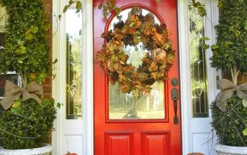 My Southern Front Porch Dressed in its Fall Finery