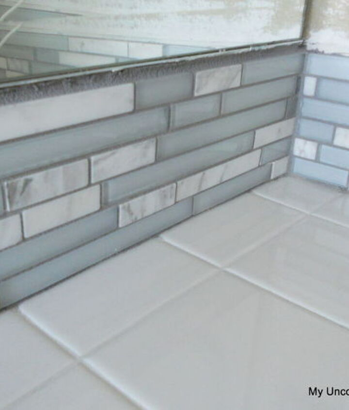 """The directions are on the back but basically you will want to pack the grout deep into the joints, but don't get any into the seam between the tiles and the counter-top. Next clean the surface with a soft sponge and water, rinsing the sponge often. Wait 30 minutes and buff off the """"haze"""" with a clean, dry cloth until the glass tiles are nice and shiny."""