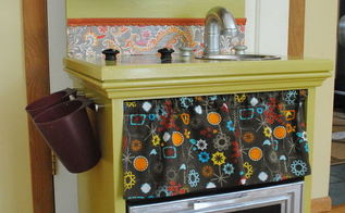 diy kids play kitchen, repurposing upcycling