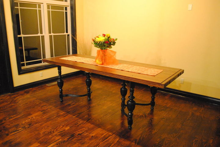 diy dining room table, dining room ideas, painted furniture, repurposing upcycling
