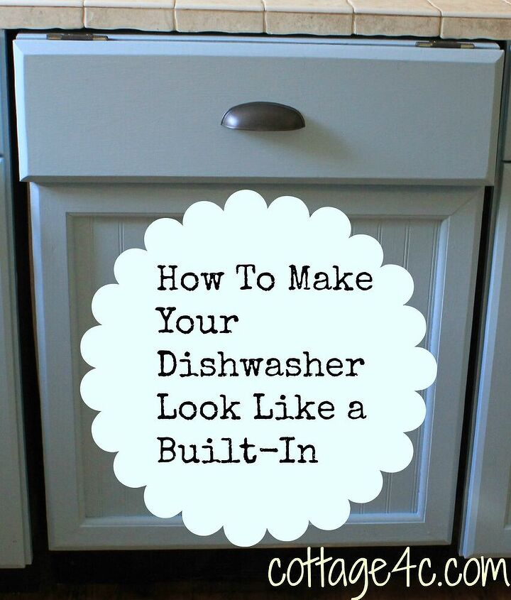 creating a built in look for your dishwasher, appliances, cabinets, diy