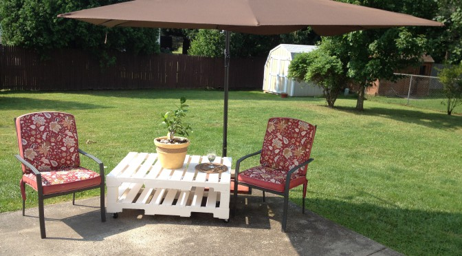 Diy Pallet Patio Table Build How To Painted Furniture