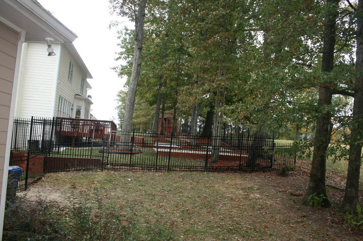 Neighbors put in a higher fence than ours because of big dogs -- would like to hide the fence completely.