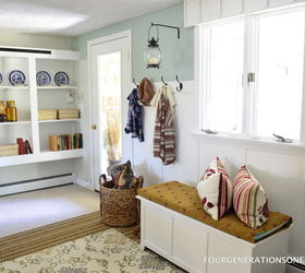 Diy Mudroom, Laundry Rooms, Storage Ideas, View Of The Wall With Hooks Diy